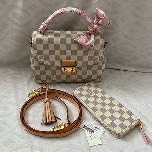 Louis Vuitton croisette and clemence wallet